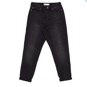Topshop Denim Avril Girlfriend Jeans Black